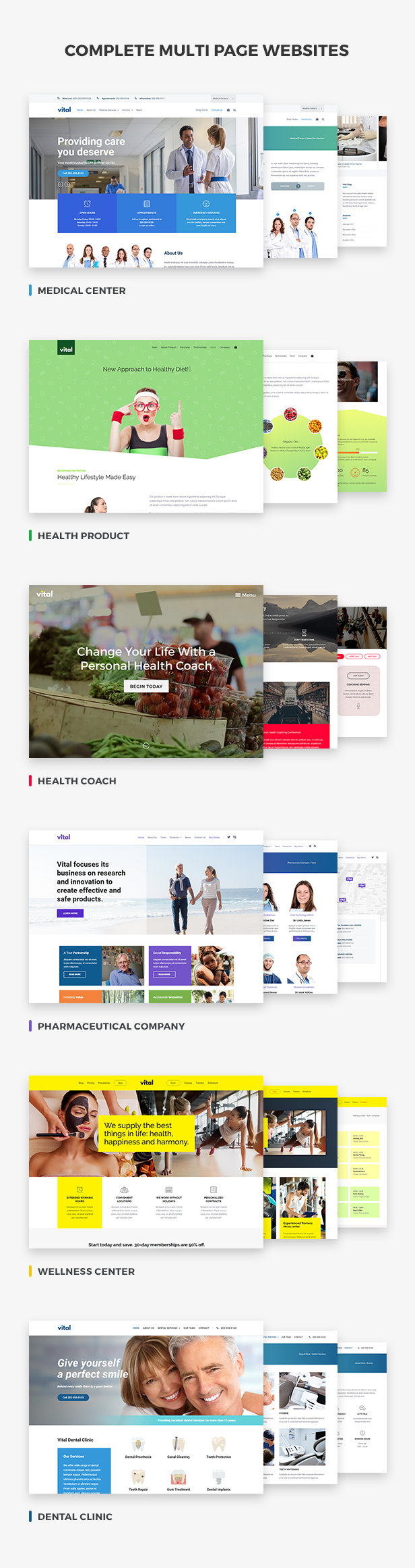Vital | Health, Medical and Wellness WordPress Theme - 2
